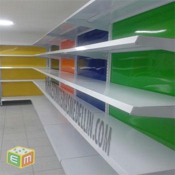 Gondola metalica para supermercado