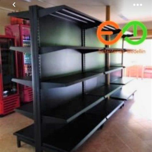 gondola para supermercado color negro EMM